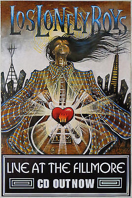 Los Lonely Boys - Live @ The Fillmore - Original Rolled Rock Promo Poster (2005)
