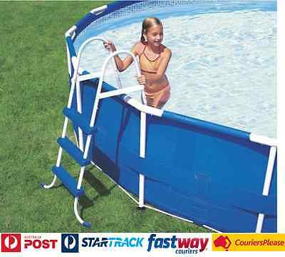 "Swimming Pool Ladder Intex 36"" Wall Height Pools Easy Entry and Exit Portable"