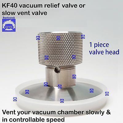 KF40 flange stainless steel vacuum vent valve or relief valve chamber venting
