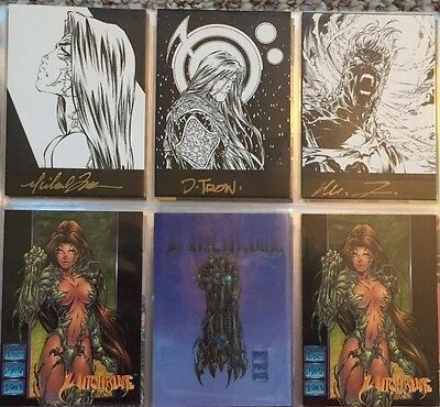 Top Cow 1996 Witchblade Trading Card Set COMPLETE MASTER SET Michael Turner Auto