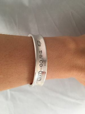 Tiffany & Co Sterling Silver 1837 Cuff Bangle Bracelet . RRP $860