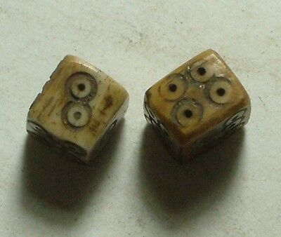 Genuine ancient Roman legionary bone gambling dice gaming die set artifacts 1 AD