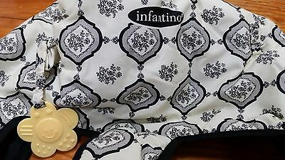 NEW! INFANTINO 2-in-1 Shopping Cart & Highchair Cover ~ Black & White  Floral