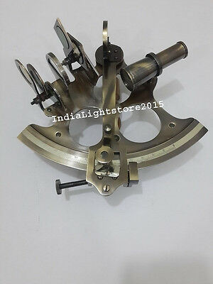Antique Vintage Nautical Solid Brass Maritime Astrolabe Marine Gift Sextant