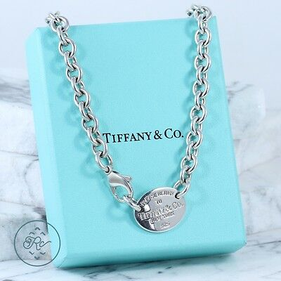 """Sterling Silver - TIFFANY & CO Return To Tag Chain - Necklace (15"""")"""