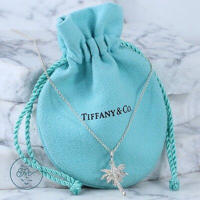 """Sterling Silver - TIFFANY & CO Palm Tree - Necklace (18"""")"""