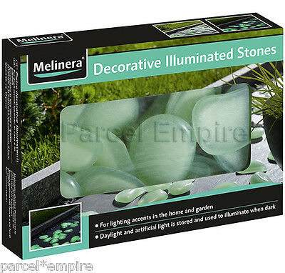 UK FREE NEXT-DAY Glow In Dark ILLUMINOUS STONES Garden Luminous Pebble Fish Tank