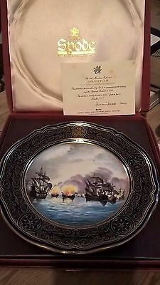"""Spode-Armada-Series-Collector-Plate-No 4 """"Showing Fireships"""""""