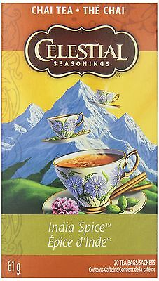 Celestial Seasonings Chai Tea India Spice - Mtn Chai 20-count (Pack of 6)
