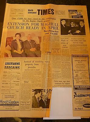Original old newspaper NORTH LIVERPOOL TIMES March 20 1964