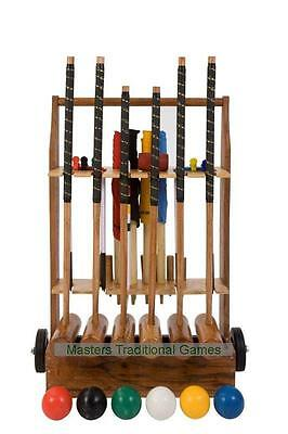 Uber 6 player Pro Croquet Set with Croquet Stand