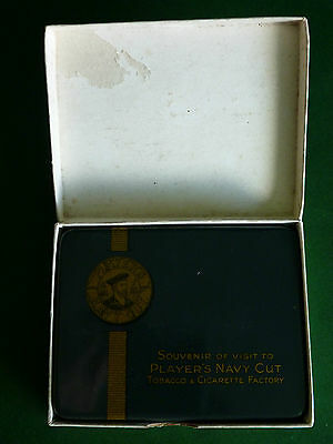 RARE John Player BOXED Souvenir Cigarette Tin of Player's Navy Cut Factory Visit