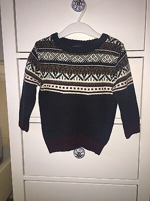next boys jumper age 12-18 months