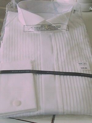 DRESS SHIRT SIZE 15half new TOP MAKE WHITE