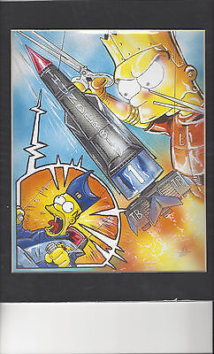 Gerry Anderson's Thunderbirds Simpsons Limited Edition Print in mount 66 of 500