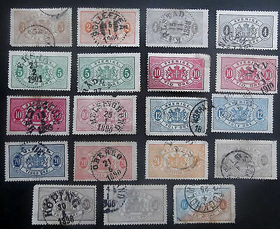 Sweden-1874-Nice collection of Official issues-Used