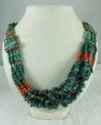 Tibetion Beauty Turquise Coral Bead Necklace