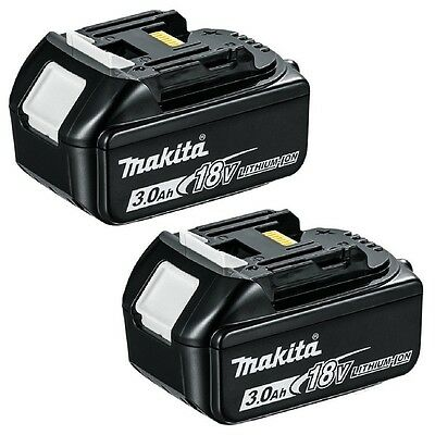 2 Genuine Makita Bl1830B 18V 3.0Ah Li-Ion Lxt Batteries With Charge Indicator.