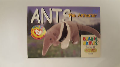 TY Beanie Baby collector card Ants the Anteater Series 2 EU