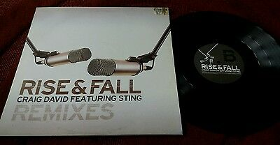 Craig David feat Sting - RISE AND FALL -12 inch vinyl record