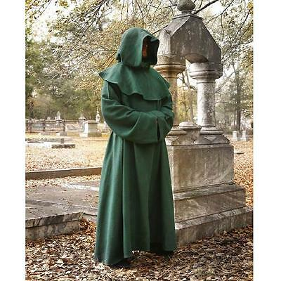 Brand New - Monks Robe & Hood - Brown. Great For Party, Stage Larp or Re-enactor
