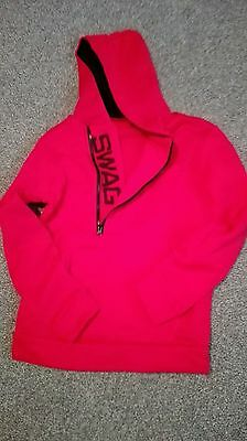 red SWAG hooded top large