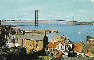 Forth Road Bridge From Behind Houses, SOUTH QUEENSFERRY, West Lothian