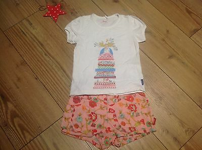 Oilily fairytale collection t shirt/shorts set age 3-4yrs.