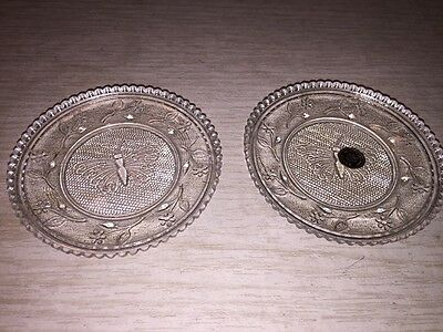 set of 2 Westmoreland Glass Butterfly Clear Coaster Dish