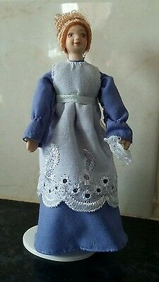 victorian dolls house ( house maid) 1/12th scale on stand