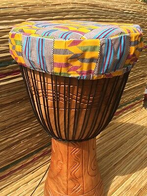 """Genuine African Double Weave Professional 13"""" Djembe WITH HALF PRICE DRUM HAT"""