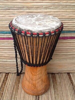 "Genuine African 11"" Djembe drum WITH HALF PRICE BAG"
