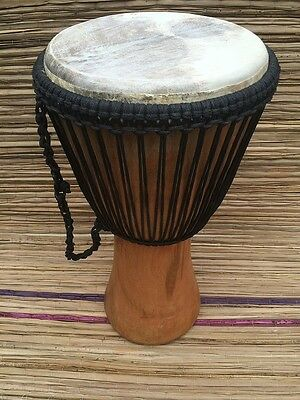"""Genuine African Double Weave Professional 11"""" Djembe WITH HALF PRICE DRUM HAT"""