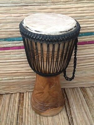 """Genuine African Double Weave Professional 11"""" Djembe drum with free drum hat"""