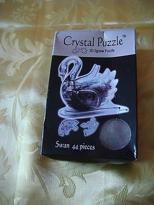Crystal Puzzle 3 D Neuf Cygne 44 Pieces