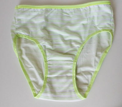 Pretty Lime Green Brief Panties Stretch Microfibre Full Back Knickers UK 10-12