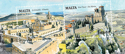 Presentation Pack with Miniature Sheet Malta - San Marino Joint 2016 - NEW ISSUE