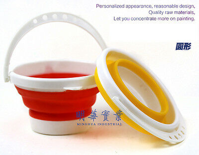 Collapsible Silicon Water Bucket for Washing Fishing Travelling