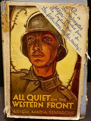 All Quiet On The Western Front By Erich Maria Remarque 1930