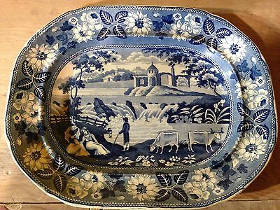 Antique Historical Staffordshire Platter