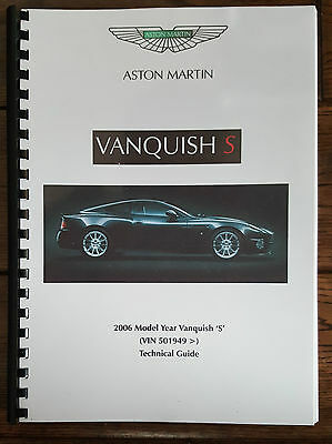 Aston Martin V12 Vanquish S (04 - 07) Technical Update / Wiring Diagram Printed
