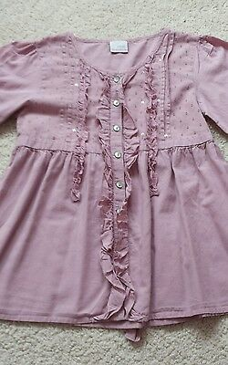 Girls Pink Blouse from Next - age 8 years