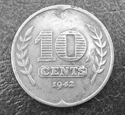 1942 Netherlands - WWII Nazi occupation 10 cent coin