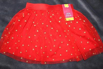 Nwt Girls 4T Red Tutu Skirt With Gold Stars