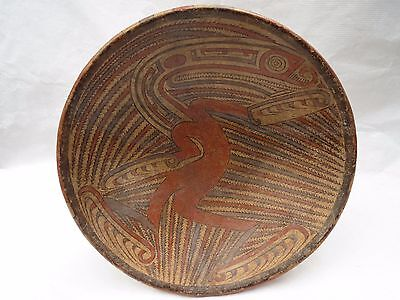 """Rare Pre Columbian Cocle Plate 10 1/2"""" by 7 1/2"""" from Private Collection"""