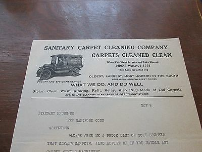 Sanitary Carpet Cleaning Company, 1921 Letterhead