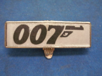 """1960's James Bond 007 Badge 2"""" with Spring Loaded Clip"""