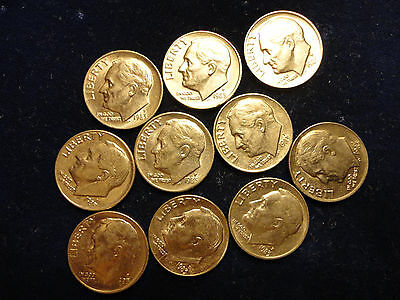1983- 10- Coin Lot Of Roosevelt Dimes         ( L@^@k )    Combined Shipping