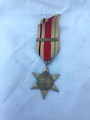 WWII AFRICA STAR WITH 1st ARMY CLASP & EMBLEM - Full Size Original