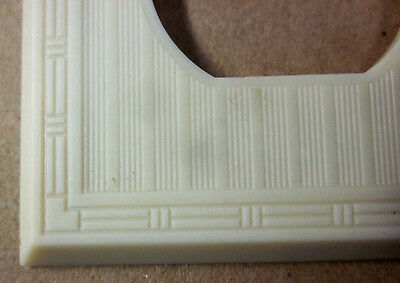 Vintage Antique Art Deco Ribbed Dashed Ivory Color Bakelite Outlet Plate Cover